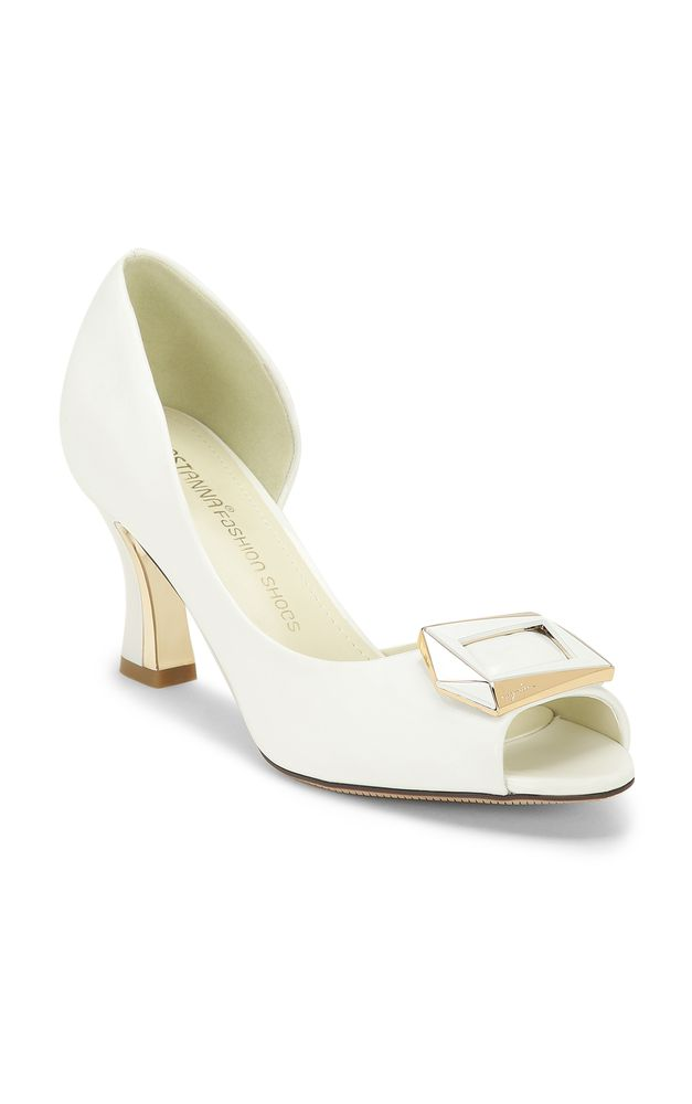 ALL CHIC AND UPTIGHT WHITE HEELED SANDALS