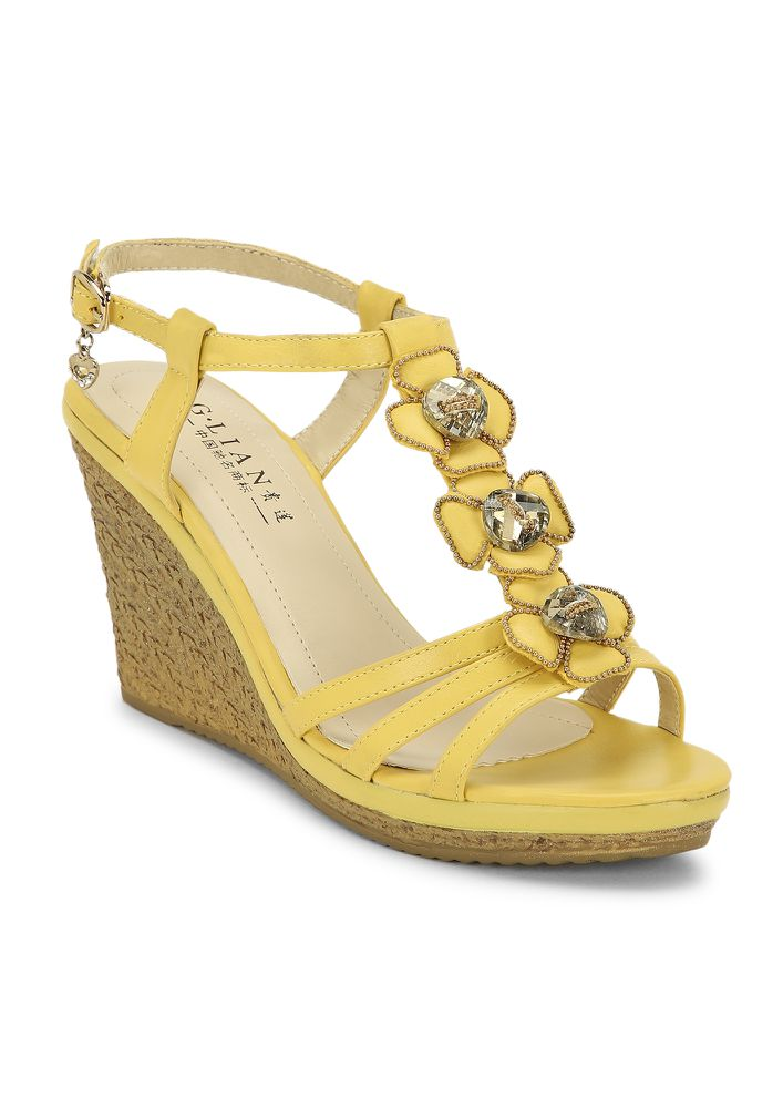 NO LOOSE ENDS YELLOW WEDGES