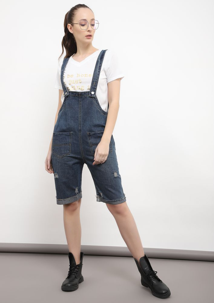 SLOUCHY-N-SASSY BLUE DENIM DUNGAREE