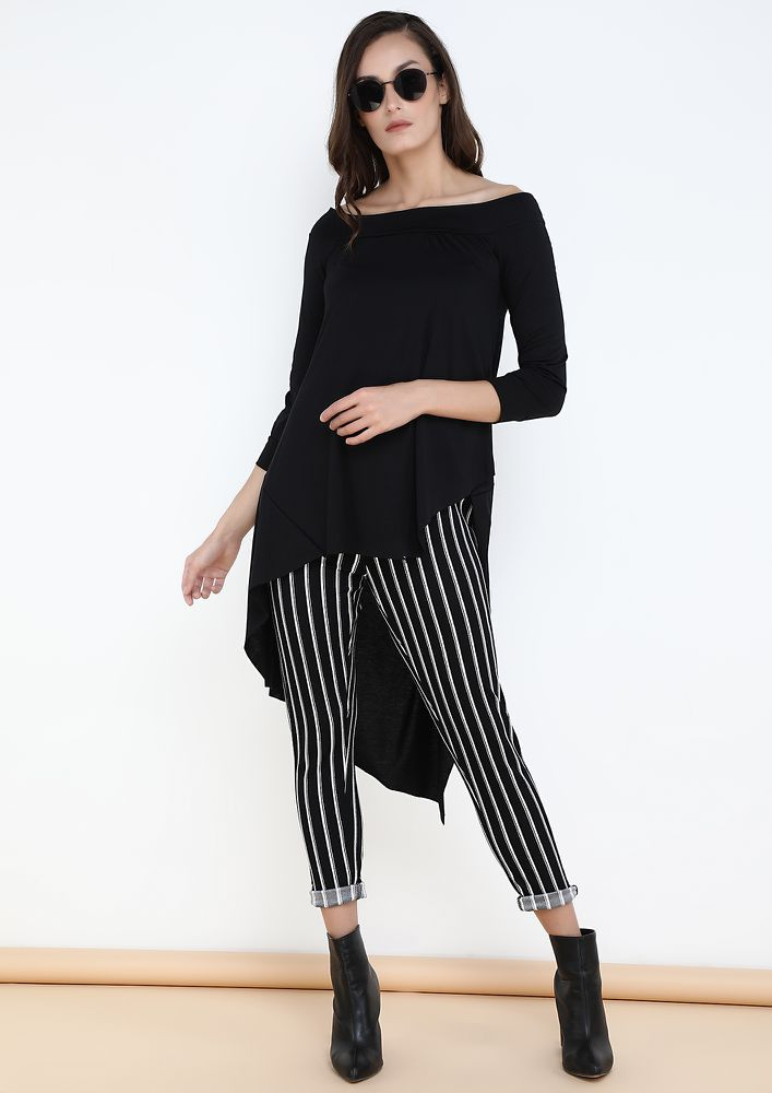 OUT OF THE MOON BLACK OFF SHOULDER TOP