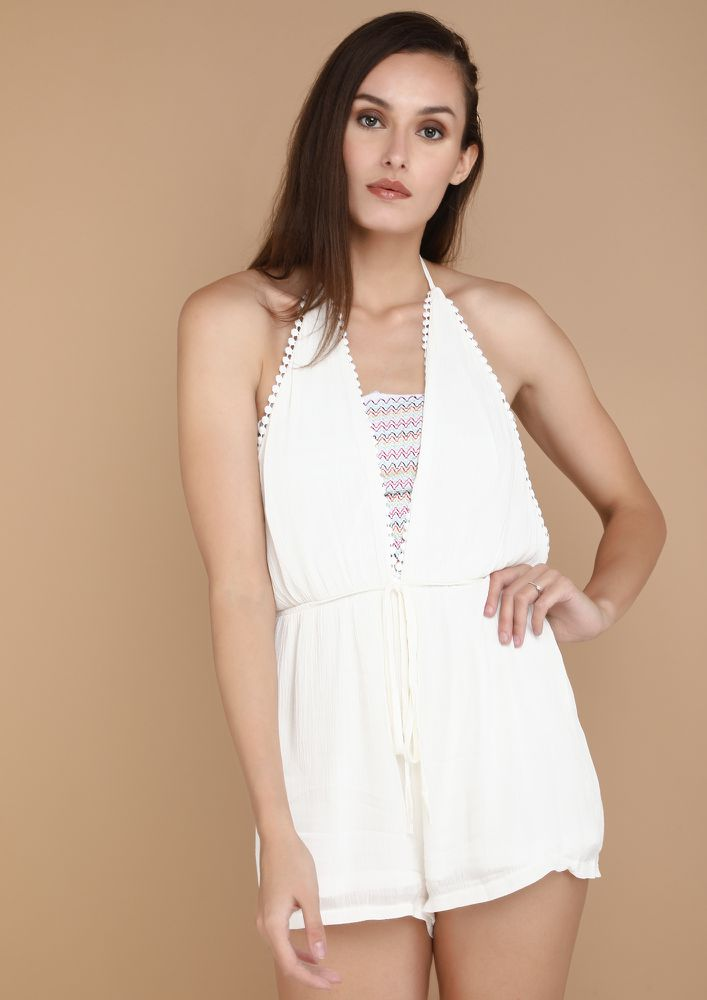 SOPHISTICATED WAYS WHITE ROMPER