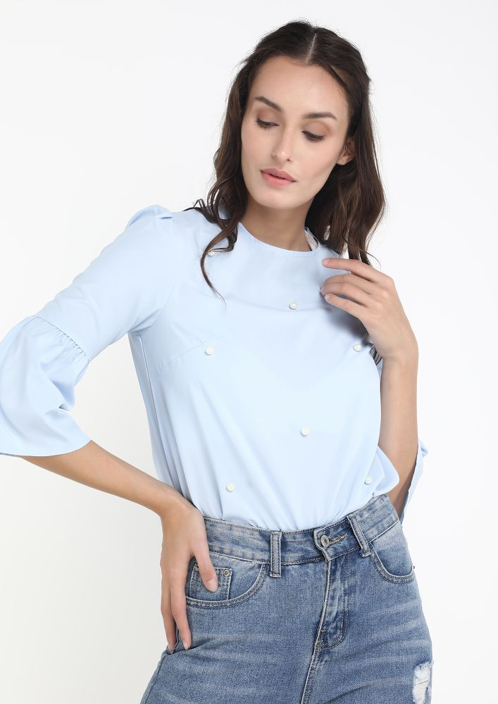BE WITH ME BLUE BLOUSE