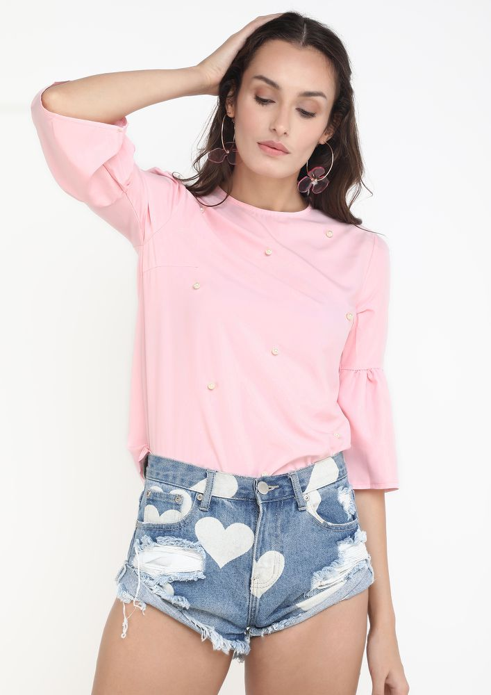 BE WITH ME PINK BLOUSE