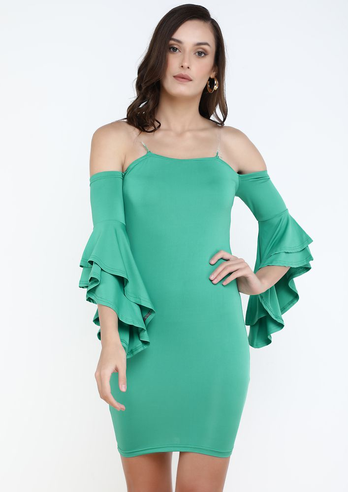 PARTY READY GREEN DRESS