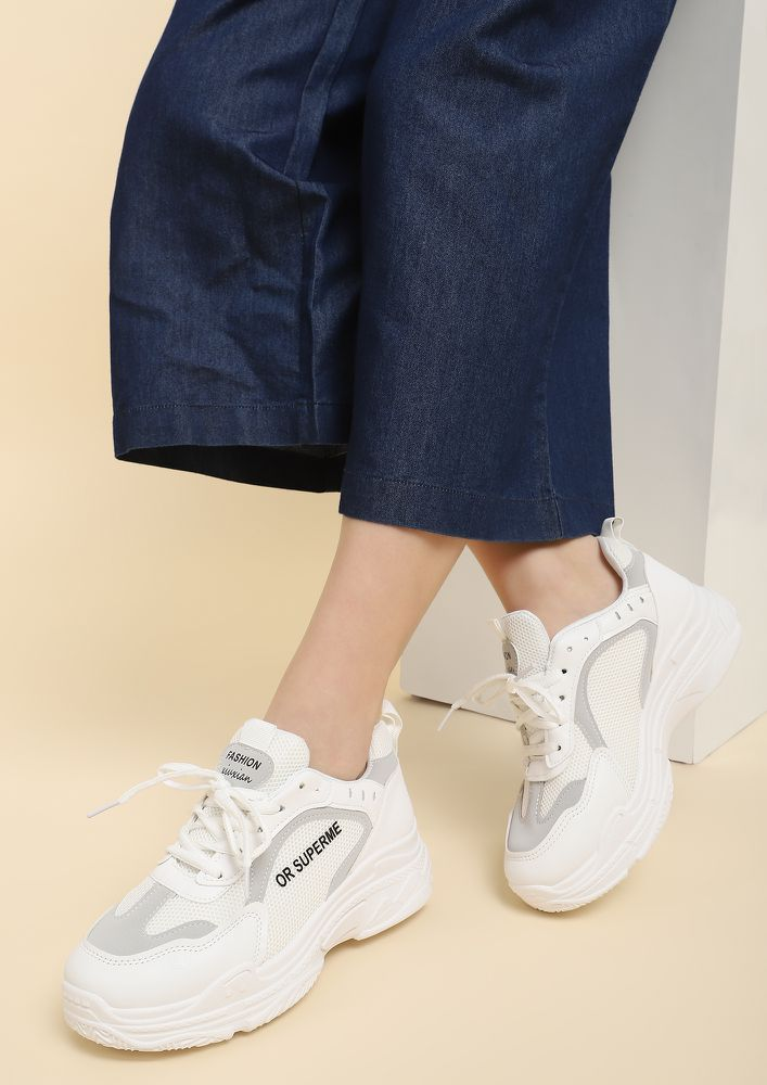 AMP IT UP WHITE SNEAKERS
