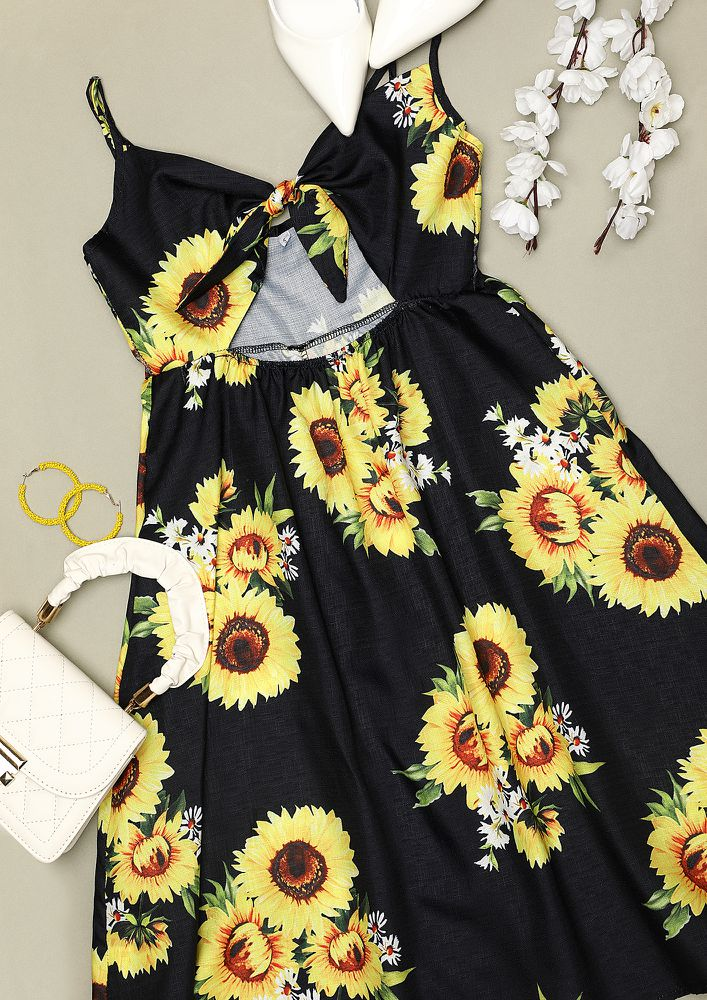 BLOOM WHEREVER YOU GO TWIST KNOT YELLOW DRESS