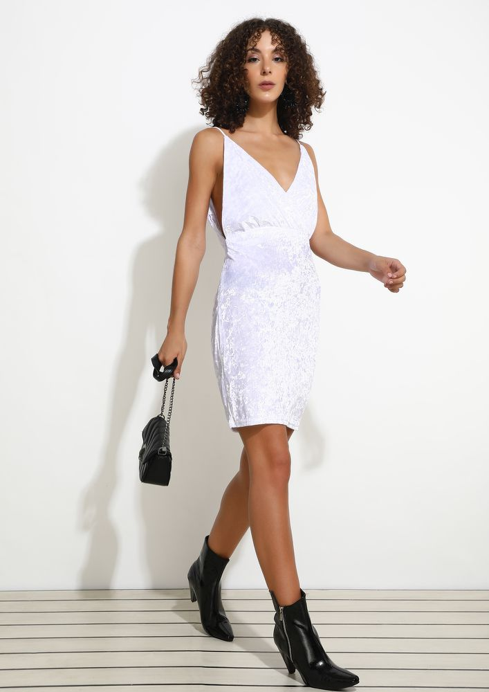 CARRY THE SHINE TO THE NEXT FLOOR WHITE DRESS