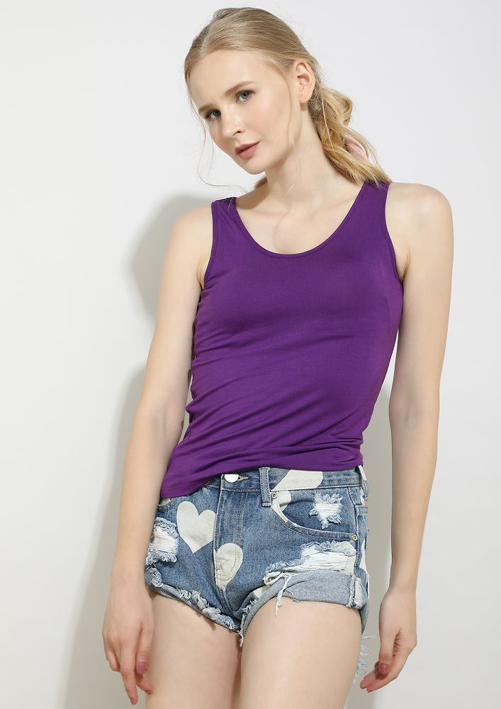 WITH YOU EVERYTHING IS SIMPLE PURPLE TOP