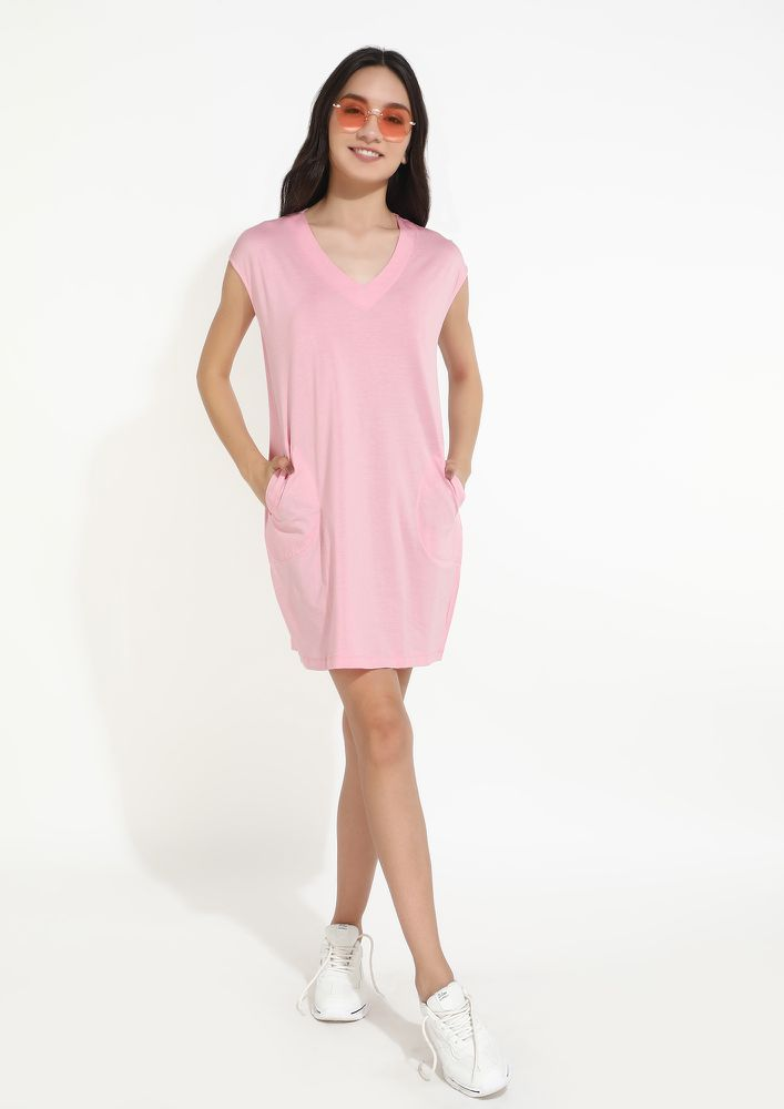 THIS LITTLE GUIDING LIGHT OF YOURS PINK DRESS
