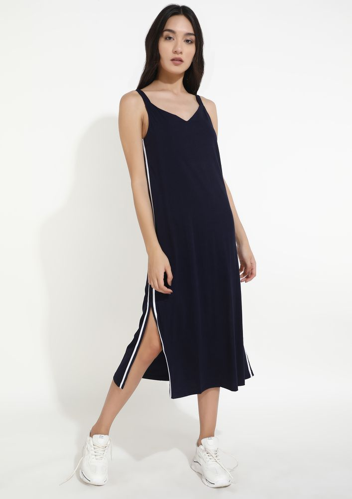 STRIPE THE OUTING AWAY NAVY DRESS