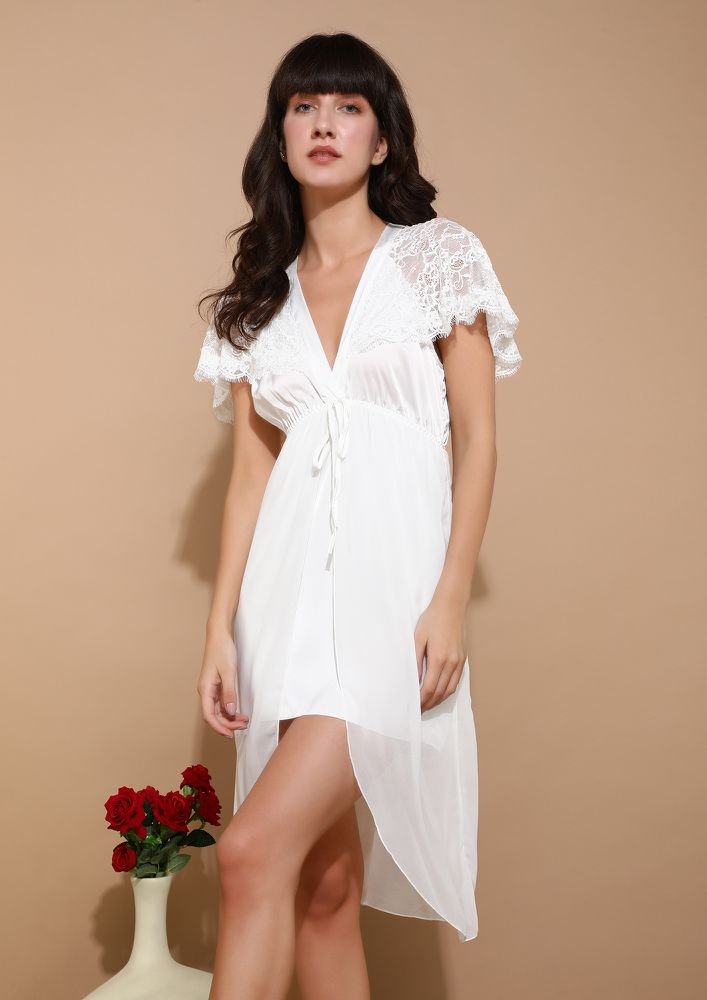 MOON BY THE RIVER WHITE SLEEPWEAR