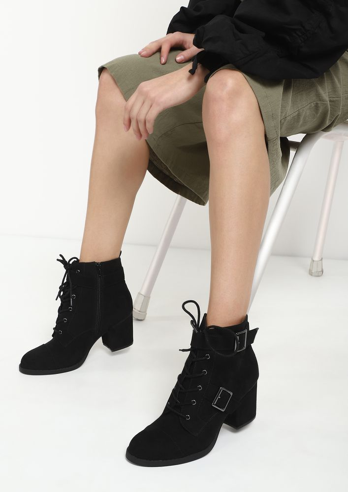 ULTRA CHIC BLACK ANKLE BOOTS