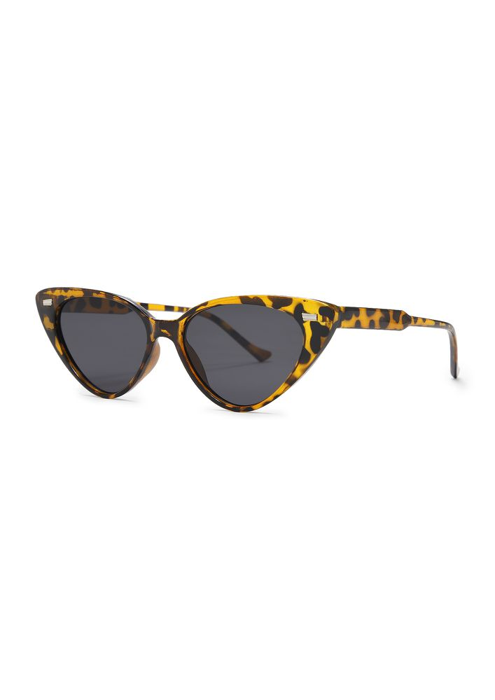 BE WHO YOU ARE BROWN CATEYE SUNGLASSES