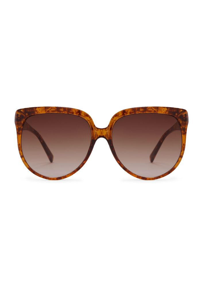 SUMMER DECIDED BROWN CATEYE SUNGLASSES