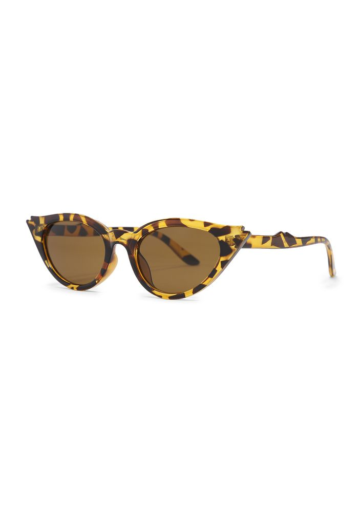 ARE YOU KITTEN ME BROWN CATEYE SUNGLASSES