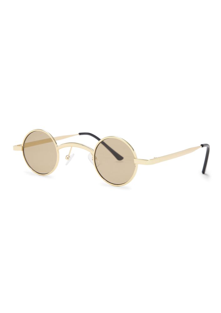 LIFE IN A CIRCLE BROWN ROUND SUNGLASSES