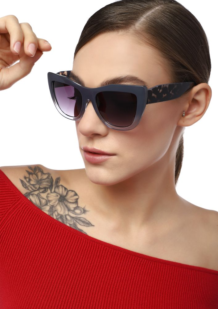 QUITE A CLASSIC GREY CATEYE SUNGLASSES