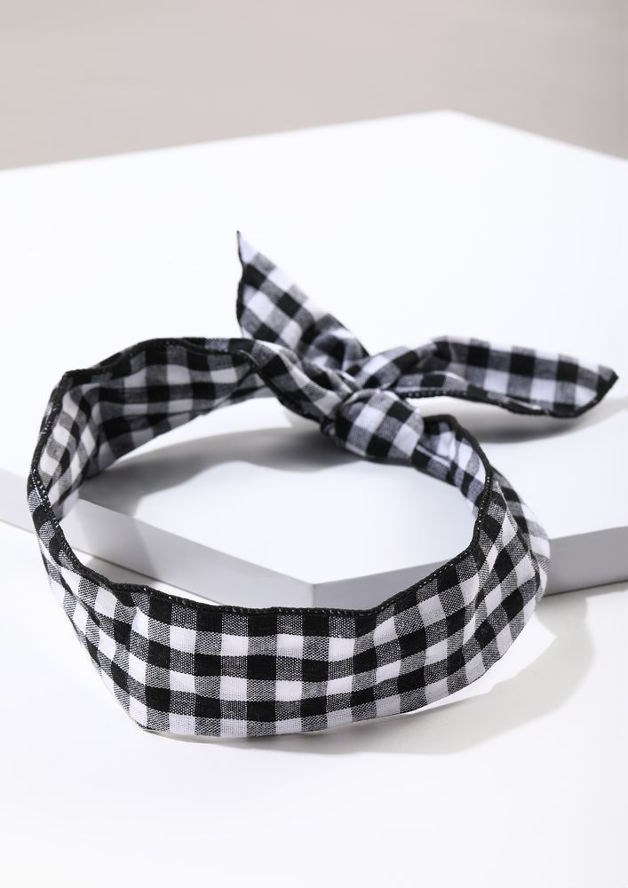 KNOT IN HERE BLACK HAIRBAND