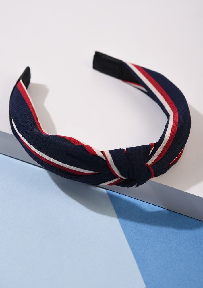 KNOT THOSE STRIPES RED NAVY HAIRBAND