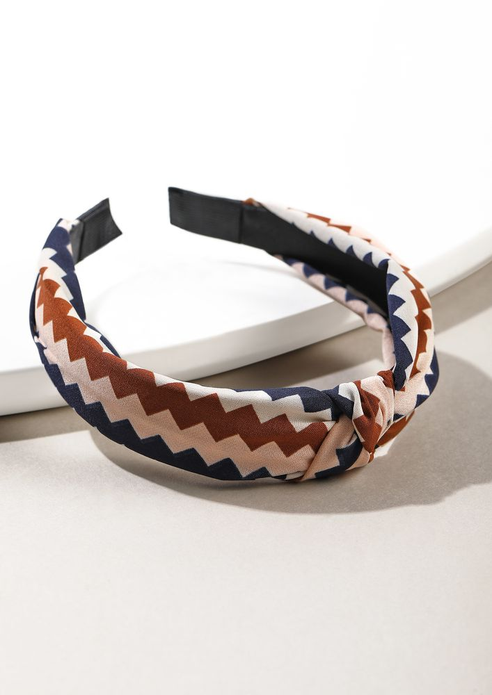 CHEVRON IN YOUR DIRECTION BROWN HAIRBAND