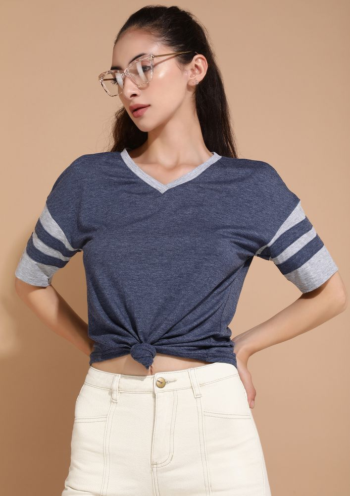 COOLIO FIT AND FINE BLUE TOP