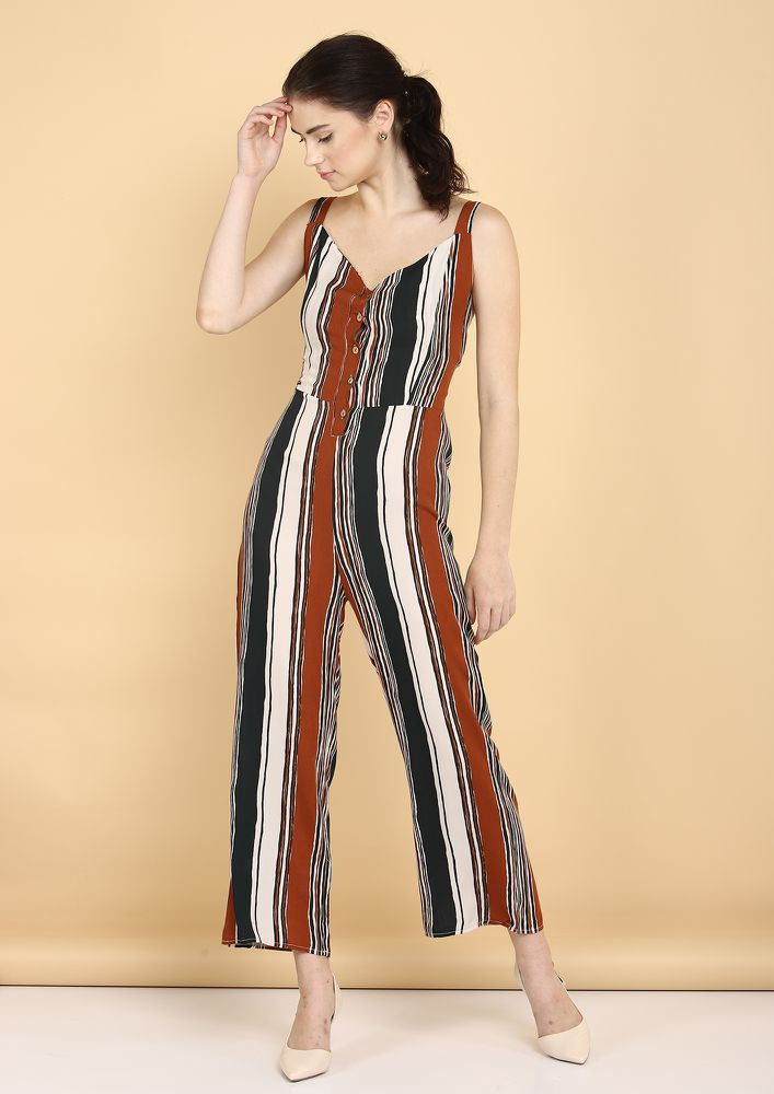 STRAIGHT TO THE POINT MULTICOLOR JUMPSUIT