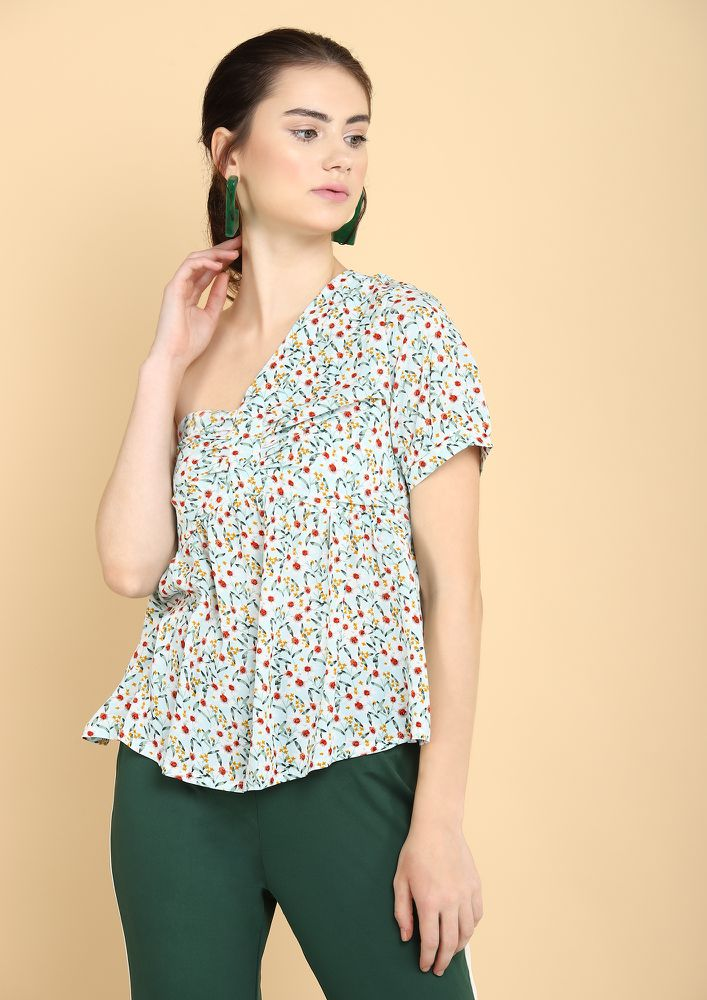 PICK A SIDE MINT GREEN BLOUSE