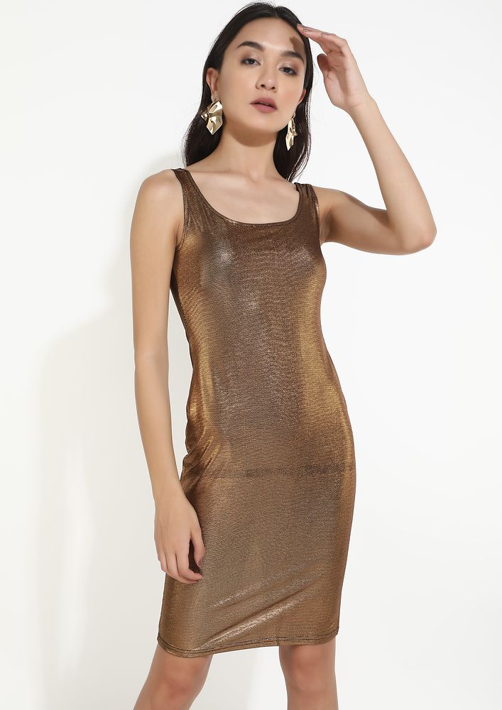 SPARKLE IS THE WAY TO BE GOLDEN DRESS