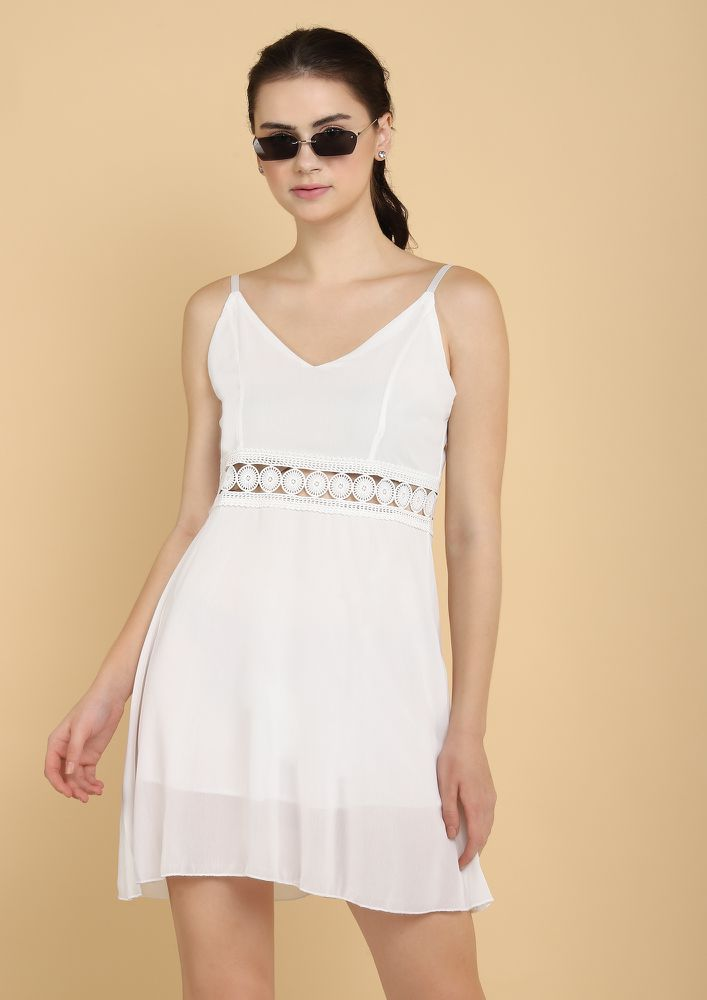 TAME ME NOT WHITE TUNIC DRESS