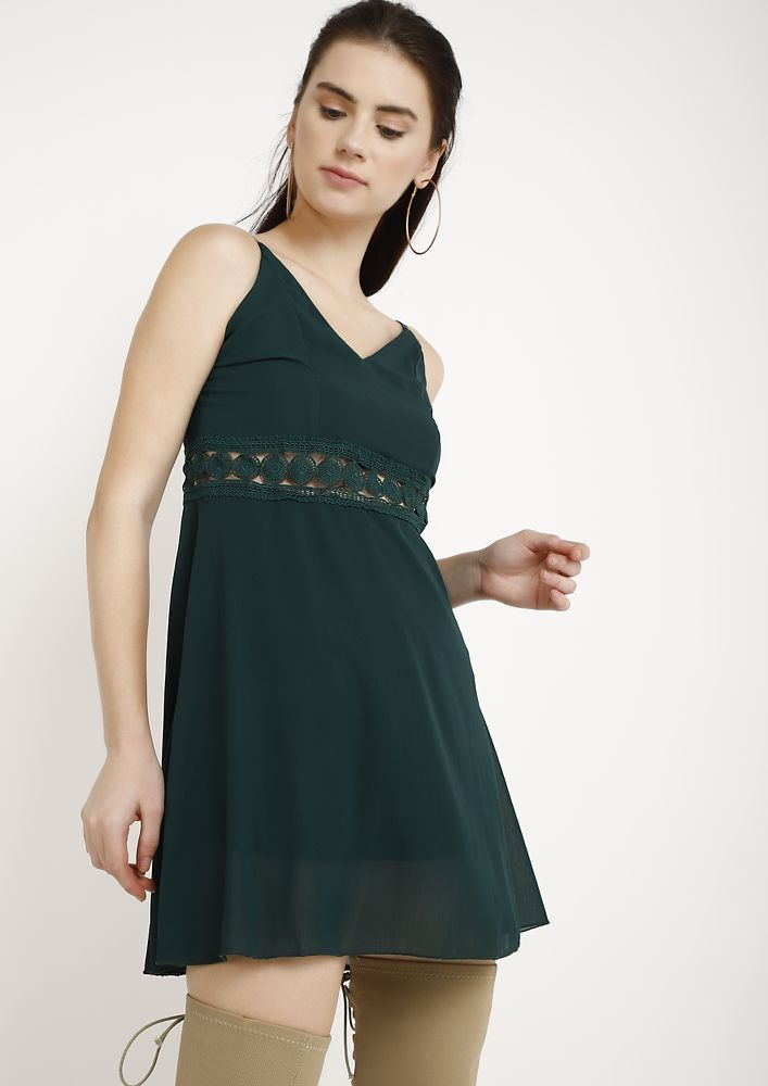 TAME ME NOT GREEN TUNIC DRESS