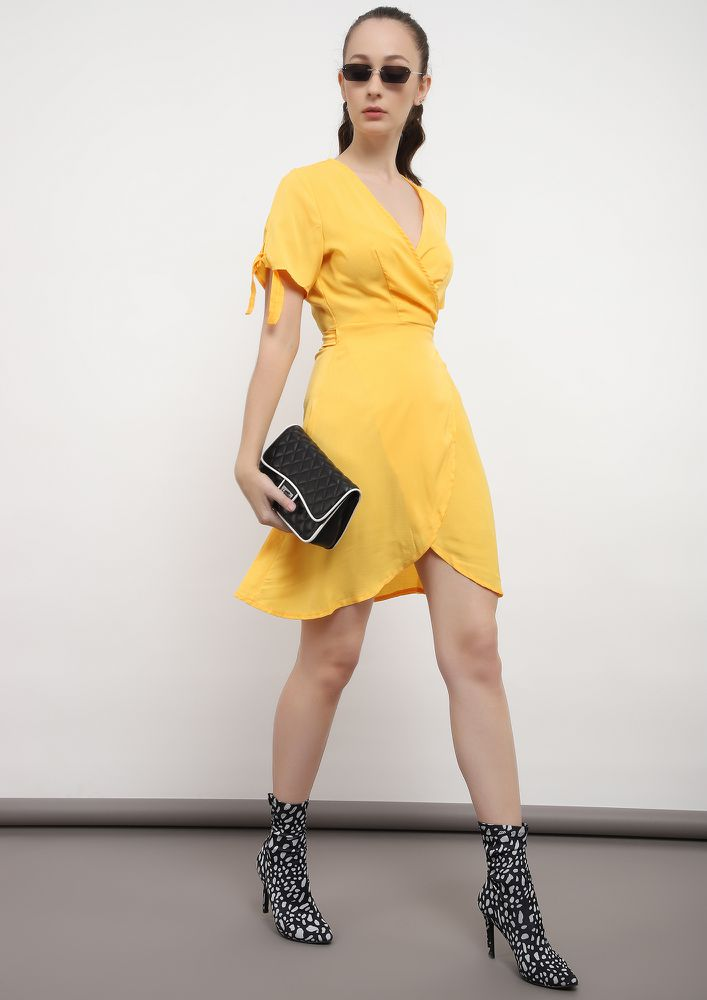 ALL FOR KNOT YELLOW TUNIC DRESS
