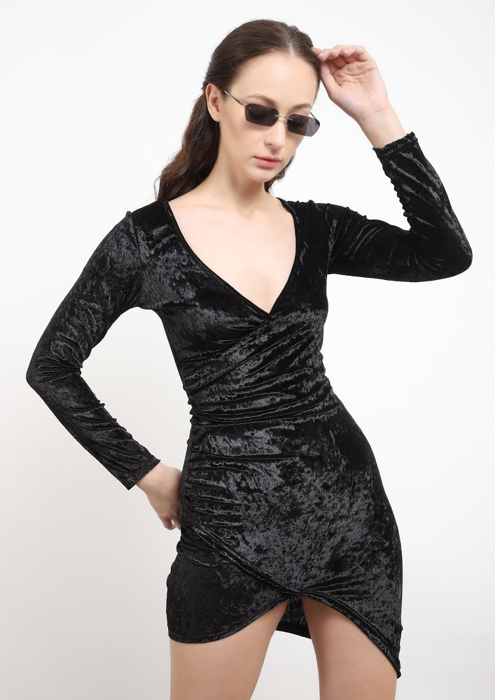 LUST FOR LIFE BLACK BODYCON DRESS