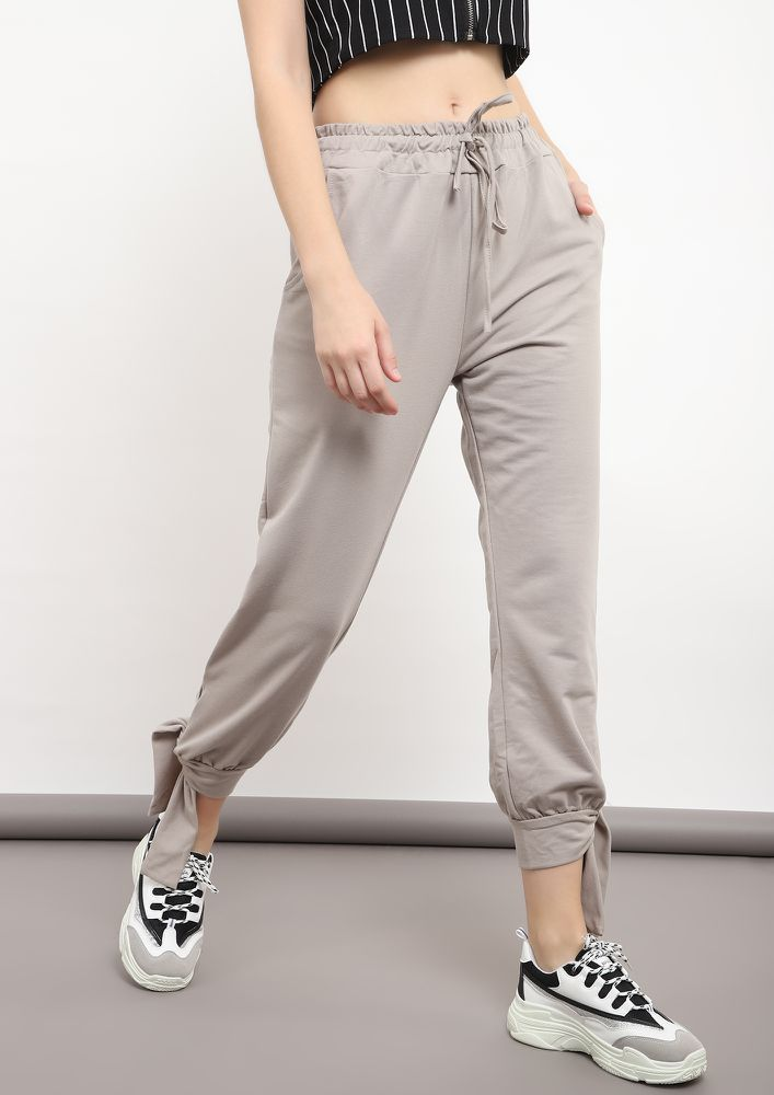 ALL IS KNOT GREY JOGGERS