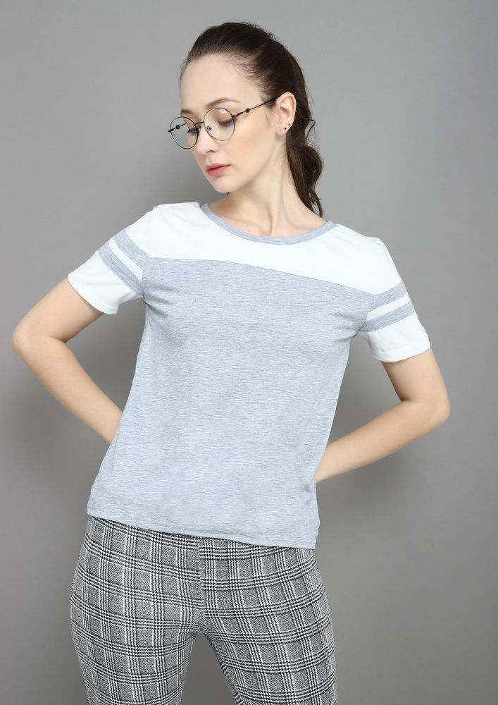 STRIP-E SEARCHED GREY T-SHIRT
