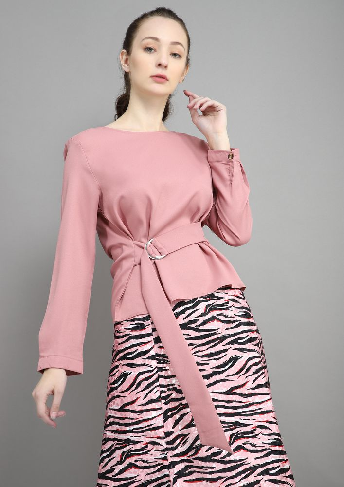 BELOW THE BELT PINK BLOUSE