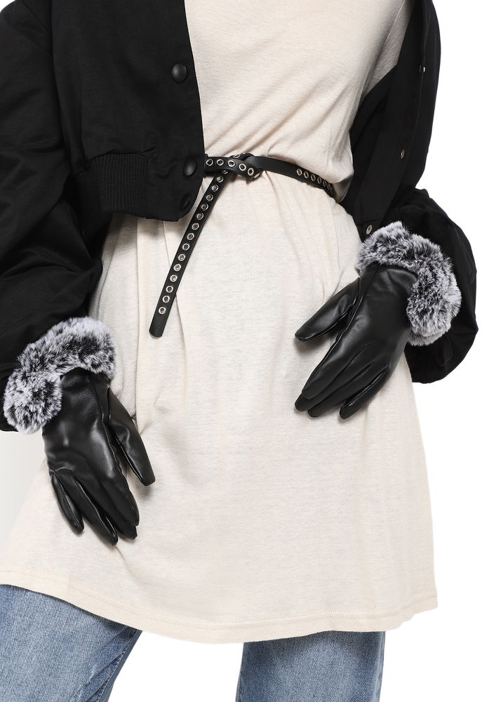 ENOUGH VICTORIAN FEELS BLACK GLOVES