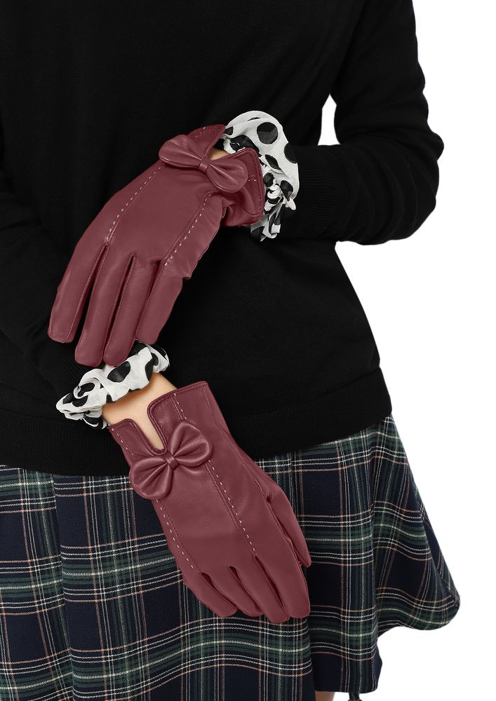 SLAYING UNDER THE SNOWFALL WINE RED GLOVES