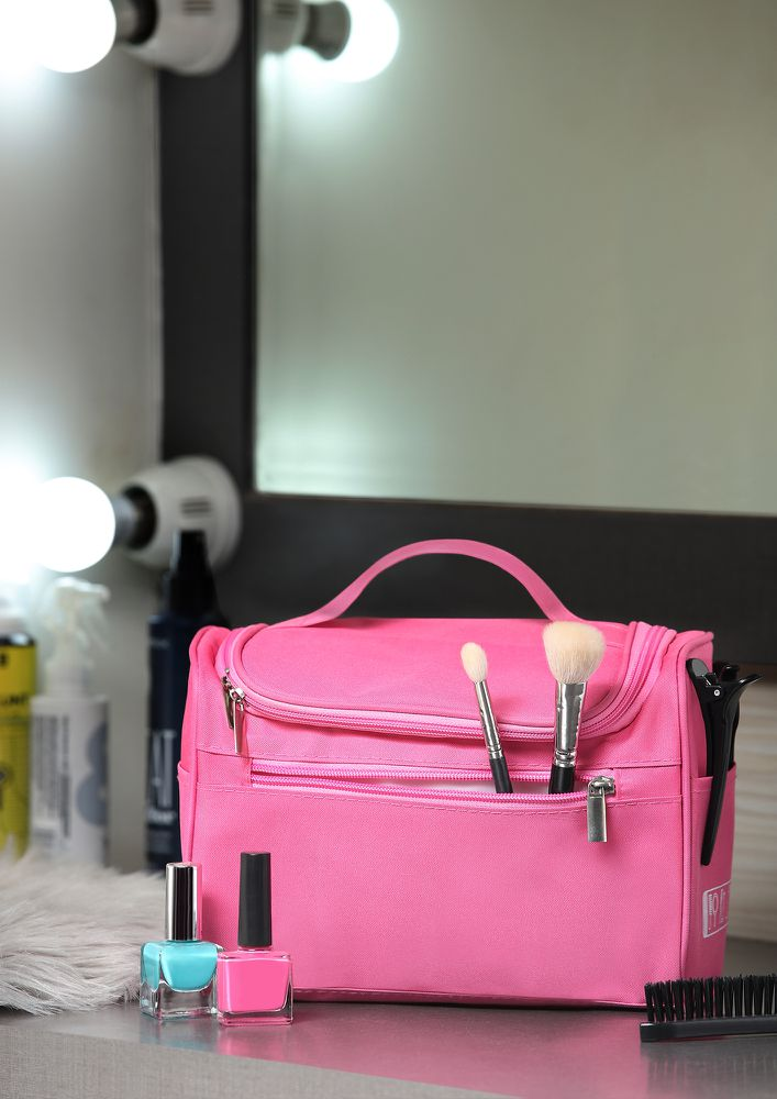 TOTALLY OUTTA CONTROL PINK MAKE-UP POUCH