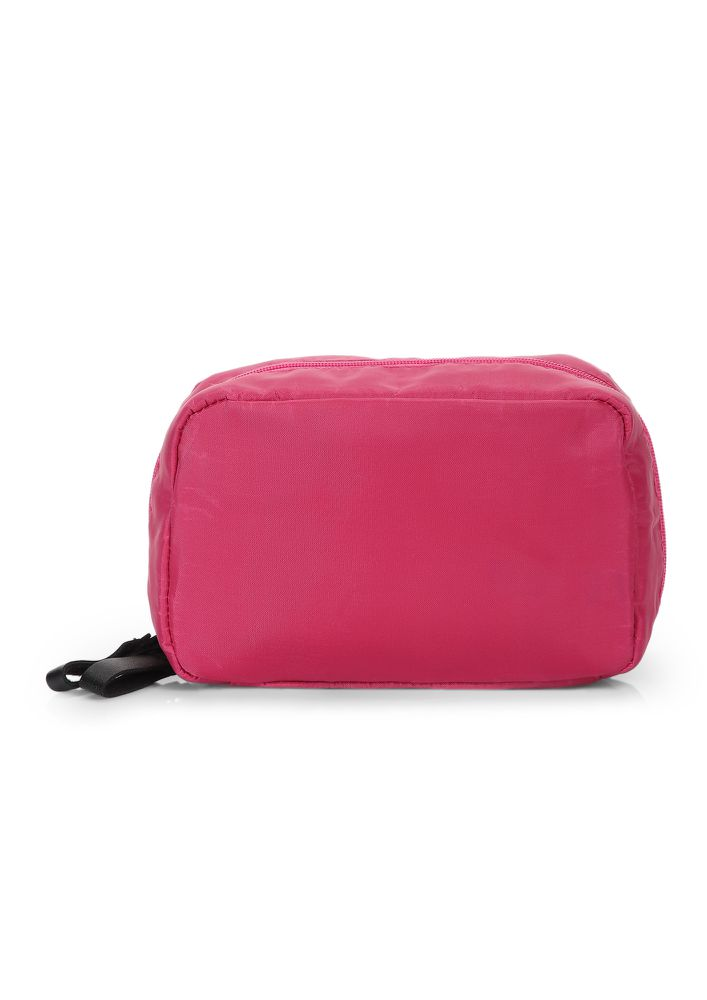 I DON'T CARE PINK MAKE-UP POUCH