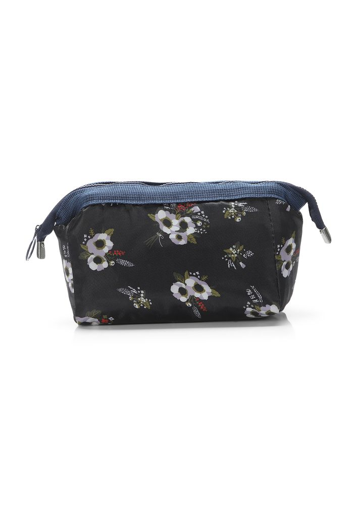 FLOWER AFTER FLOWER BLACK MAKE-UP POUCH