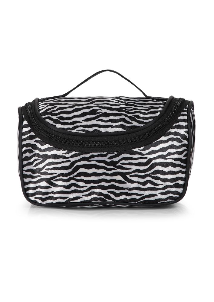 DON'T BLEND IN BLACK AND WHITE MAKE-UP POUCH