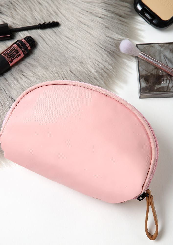 NO STRESS AT ALL PINK MAKE-UP POUCH