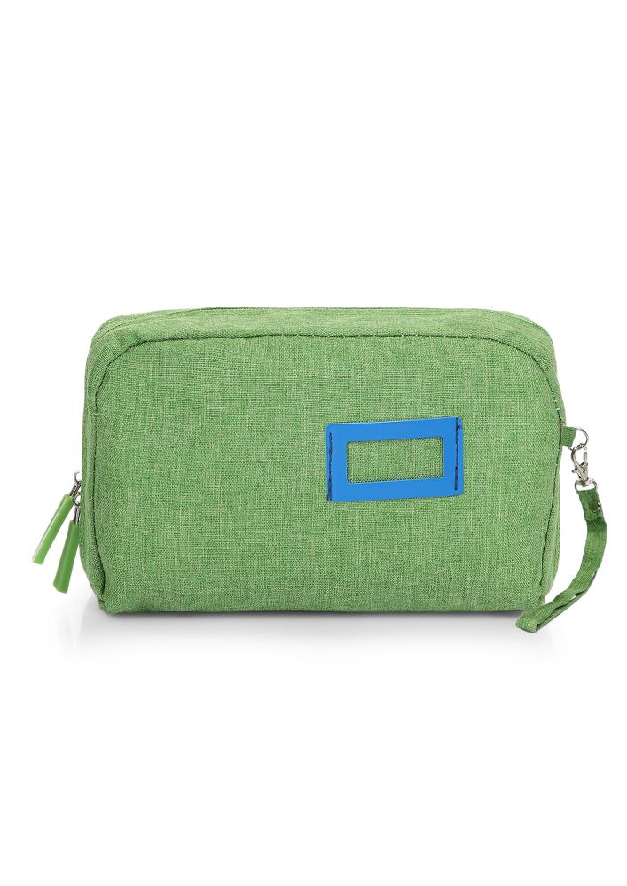 LIFE IS SIMPLE GREEN MAKE-UP POUCH