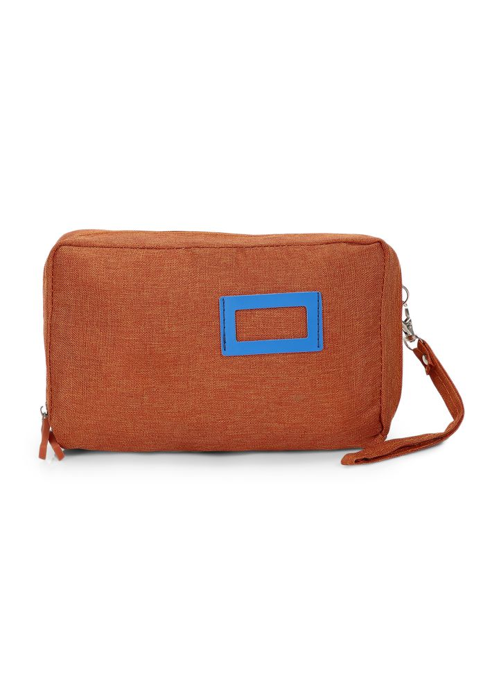 LIFE IS SIMPLE ORANGE MAKE-UP POUCH