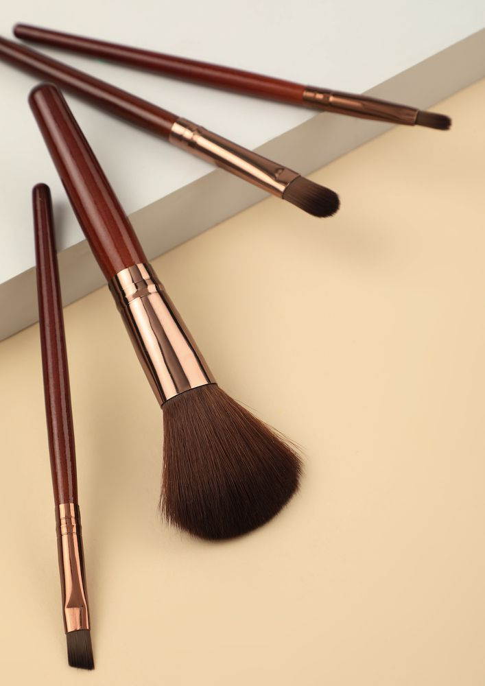 KEEP BLENDING BROWN MAKEUP BRUSHES - SET OF 4