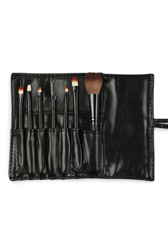 THE PERFECT GLOW BLACK MAKEUP BRUSHES - SET OF 7