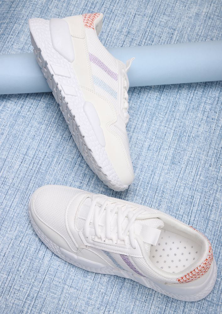 SUPER PRACTICAL WHITE TRAINERS