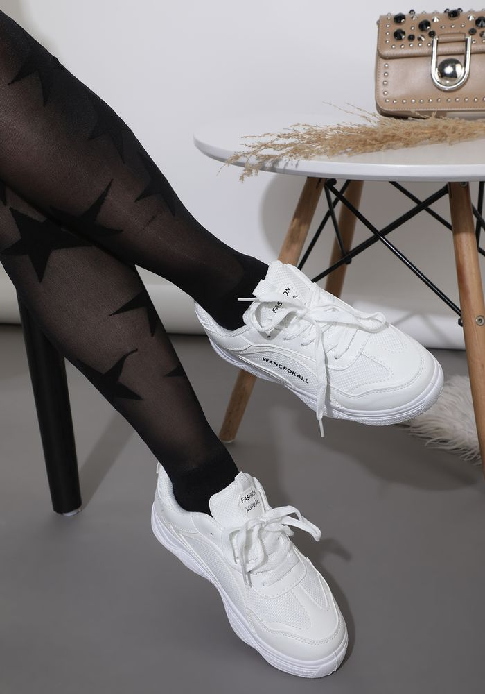 STREET CHIC WHITE TRAINERS
