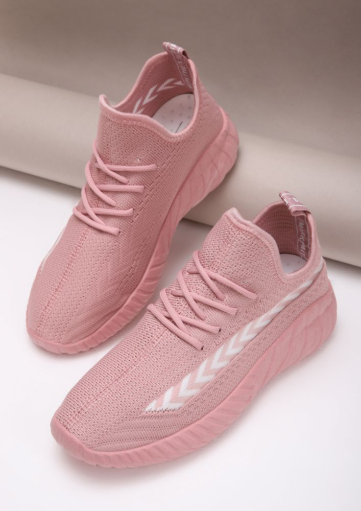 NOT YOUR USUAL PINK TRAINERS