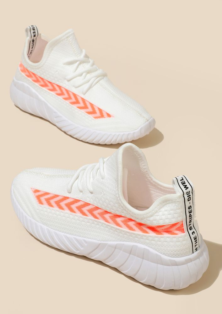 SMART AND SPORTY WHITE TRAINERS